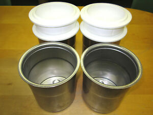 Pacojet Pacotizing S s Beakers W lids set Of 4 For Pj1 pj2 free Shipping