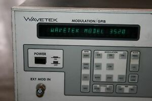 Wavetek 3520 Synthesized Signal Generator 10 Mhz To 2200 Mhz