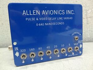 Allen Avionics Var640 Pulse Infinitely Variable Video Delay Line