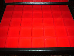 3 Jewelry Display Case Riker Mount Display Box Shadow Box12 X 16 Red Divided 35