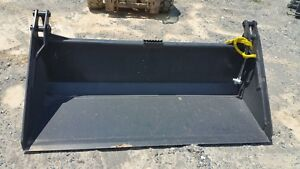 84 4 1 Bucket W smooth Edge Bobcat Skidsteer Attachment Universal Quick Attach