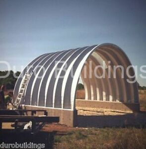Durospan Steel 25x25x12 Metal Building Shed Structure Open Ends Factory Direct