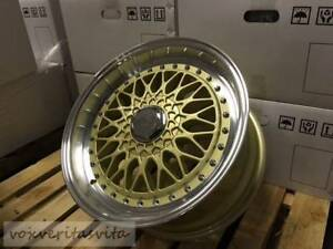 17 Rs Style Wheels Rims Gold Face Fits E30 Bmw 3 Series Toyota Yaris Tercel