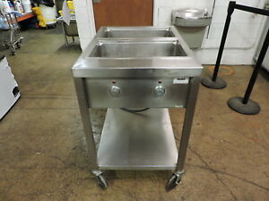 Wells Ss206td Commercial 2 Compartment Steam Table