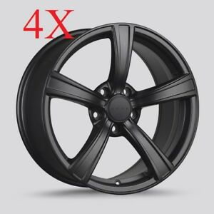 Drag Wheels Dr 72 18x8 5 5x114 3 Et40 Cb73 Flat Black Rims Mazdaspeed 3 Mazda3
