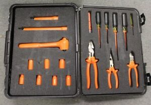 Cementex Its mb410 Insulated 19pc Electrician s Tool Kit W Case Free Shipping
