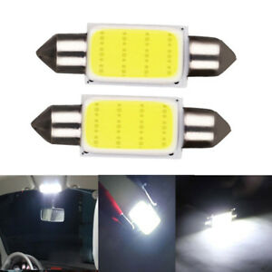 2pcs T10 36 Cob Led White Dome Map Light Bulbs Car Auto Interior Panel Lamp