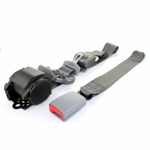 For Honda Car Truck 3 Point Safety Adjustable Seat Belt Universal Buckle Gray