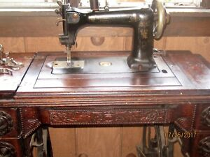 Rare Wheeler Wilson Co Bridgeport Conn Antique Sewing Machine