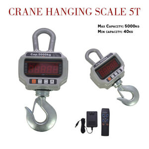 11 000lbs Heavy Duty Digital Crane Hanging Scale W Led Display 5000kg Ocs t