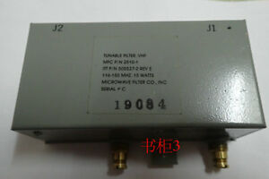 Vhf Tunable Bandpass Filter 116 150 Mhz 15watts mfc P n 2510 1 Ittp n505527 2