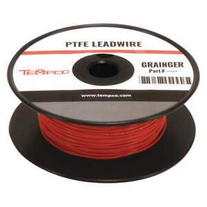 Tempco High Temp Lead Wire 22ga red Ldwr 1055