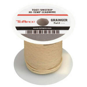 Tempco High Temp Lead Wire 16 Ga max Temp 482 F Ldwr 1047