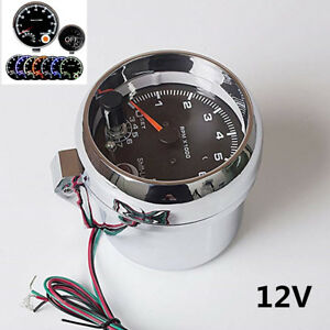 3 75 7 Colors Led Car Tachometer 0 8000 Rpm Works On 4 6 And 8 Cylinder Engine