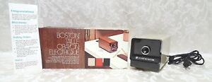 Vintage 1980s Hunt Boston Electric Pencil Sharpener 1716 Tested Works W box Euc