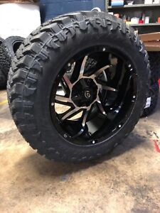 20x12 51 Vision Prowler Wheels 35 Mt Tires Package 8x6 5 Chevy Gmc 8 Lug