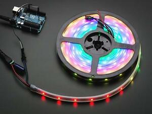 Adafruit Neopixel Digital Rgb Led Strip Black 30 Led 5m Spool