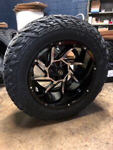 20x12 51 Vision Prowler Wheels 35 Mt Fuel Tires Package 8x6 5 Chevy Gmc 8 Lug
