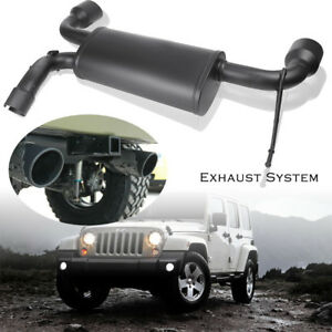 Stainless Matte Axle Back Exhaust System For 07 17 Jeep Wrangler