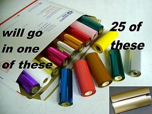 Hot Stamp Machine Stamping Foil Kingsley 25 Roll Pk 70 Colors Plus Canister