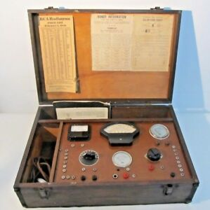 Vintage Radio Tube Tester Test Equip Dynamic Mutual Conductance With Manual Vita