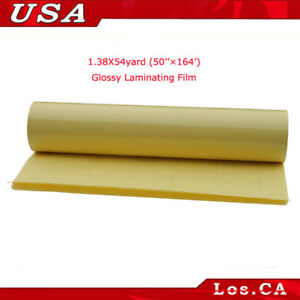 1 38x54yard 50 x164 Glossy Cold Laminating Film For Laminate Posters Maps