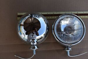 2 Vintage Fog Lights 5 Chevy Cars Trucks 40 46 47 48 49 50 51 Fleetmaster