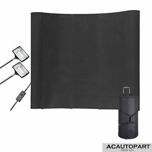 Wfs323 Portable Display Trade Show Booth Exhibit Black Pop Up Kit Spotlights 8ft