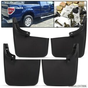 New Mud Flaps Molded Splash Guards For 2004 2015 Ford F 150 W O Fender Flares