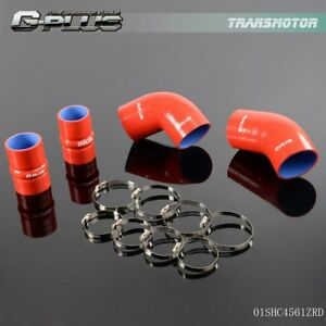 Silicone Intercooler Boot Hose For 2004 2005 Chevrolet Gmc 6 6l Duramax Lly Red