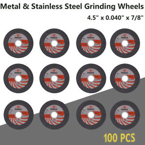100 Pack 4 1 2 X 045 X 7 8 Depressed Center Cut off Wheel Cutting Discs My