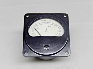 0 30a Russian 8021 Military Ammeter Current Meter Amp Analog Panel Meter