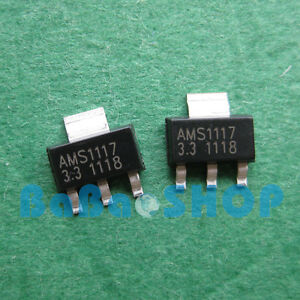 10pcs 1000pcs New Ams1117 3 3 Lm1117 Ams1117 3 3v 1a Voltage Regulator Sot 223
