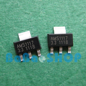 30pcs 1000pcs Ams1117 3 3 Lm1117 Ams1117 3 3v 1a Voltage Regulator Sot 223