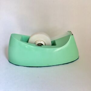 Mint Green Desktop Scotch Tape Dispenser Mid Century Vintage Retro Office
