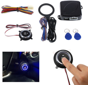 Car Alarm Engine Push Button Start Stop Keyless Entry System Starter Anti theft