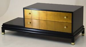Mid Century Modern Johnson Furniture Chinoiserie Low End Coffee Table Vintage