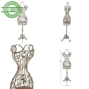 Iron Dress Form Mannequin Metal Wire Frame Clothing Mannequins Display Stand