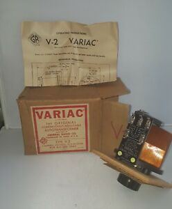 Vintage General Radio Co Variac Type V 2 Autotransformer