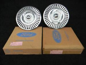 57 Thunderbird 1957 T bird Nos Pair Of Original Hubcaps In Ford Boxes B7a 11308