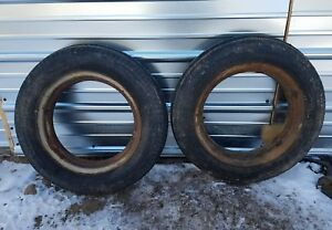 Farmall B Tractor Ih Front Tires And Rims 4 00x15