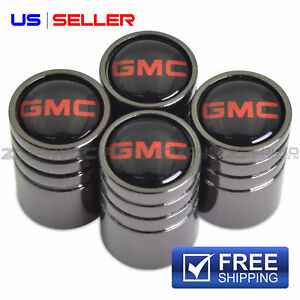 Gmc Valve Stem Caps Wheel Tire Black Us Seller Ve56