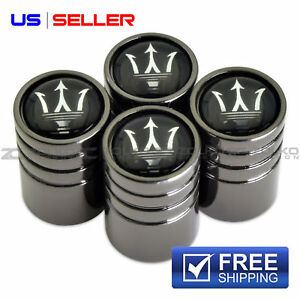 Maserati Valve Stem Caps Wheel Tire Black Us Seller Ve67