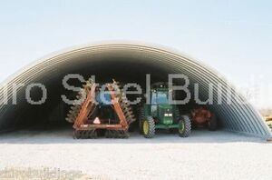Durospan Steel 51x49x17 Metal Quonset Arch Building Kit Open Ends Factory Direct