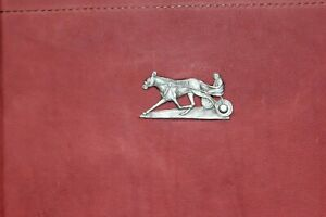 Standardbred Harness Pacer Concho On Saddle Brown Leather 3 Ring Binder