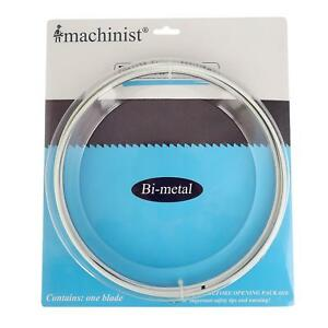 Imachinist S1051214 Bi metal Metal Cutting Band Saw Blades 105 Long By 1 2