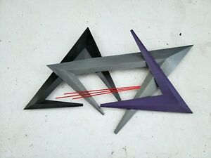 Mid Century Geometric Metal Wall Hanging