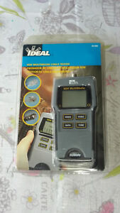 Ideal 33 856 Vdv Multimedia Cable Tester Network Video Voice Rj 11 12 Rj 45 Coax