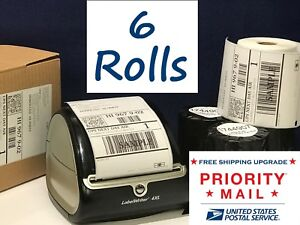 Dymo Shipping Labels 6 Rolls 1744907 Compatible For 4xl Thermal Printer 220 roll