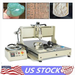 Usb 2 2kw Vfd Cnc Router 4axis 6090 Engraver Milling Drilling Machine Metal 110v